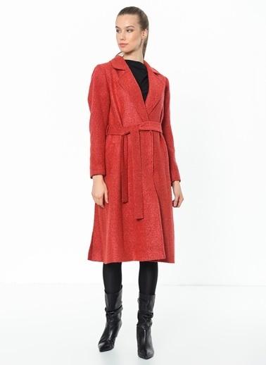 Dewberry Uzun Yün Palto Kırmızı